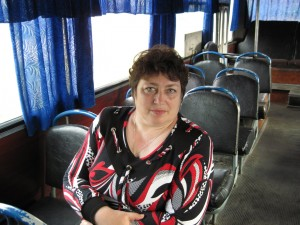 Мама в автобусе