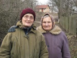 Бабушка и тетя Люда