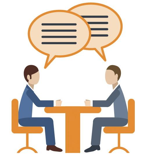 Разговор деловых людей, клипарт